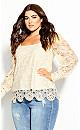Plus Size Crochet Ella Top - cr