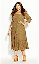 Plus Size Time Lace Dress - whisky