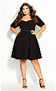 Plus Size Signature Dress - black