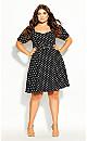 Plus Size Spot Signature Dress - black