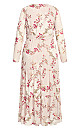 Plus Size Flower Child Maxi Dress - oatmeal