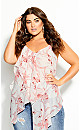 Plus Size Juno Floral Top - ivory