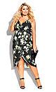 Plus Size Tender Floral Dress - black