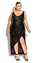 Plus Size Star Desire Maxi Dress - onyx