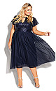 Plus Size Sparkle Joy Dress - sapphire