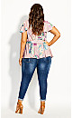 Plus Size Heartwine Wrap Top -rose