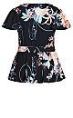 Plus Size Angel Floral Top - black
