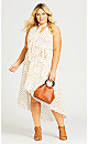 Adriatic Print Dress - white
