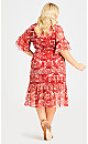 Pacha Print Dress - red
