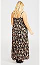 Mykonos Print Maxi Dress - black