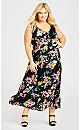 Patong Print Maxi Dress - black