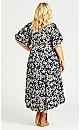 Vivian Wrap Print Maxi Dress - mono floral