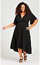 Plus Size Vivian Wrap Maxi - black