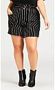 Plus Size Leila Mid Short - black
