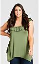 Plus Size Serena Tunic - khaki