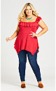 Plus Size Serena Tunic - red