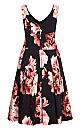 Plus Size Heavenly Floral Dress - black