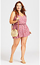 Plus Size Sweet Girl Playsuit - blush