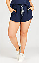 Plus Size Simple Day Short - navy