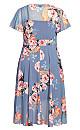 Plus Size Florence Frill Dress - mauve