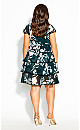 Plus Size Fresh Fields Dress - jade