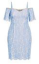 Lace Whisper Dress - sky