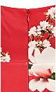 Plus Size Lotus Love Dress - raspberry