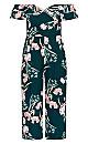 Plus Size Fresh Field Jumpsuit - jade