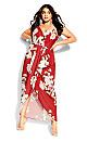 Lotus Maxi Dress - red