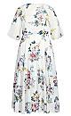 Plus Size Summer Love Maxi Dress - ivory