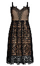 Plus Size Fancy Free Dress - black