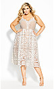 Plus Size Fancy Free Dress - ivory