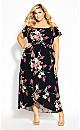 Lady Floral Maxi Dress - black