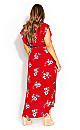 Plus Size Love Floral Maxi Dress - red