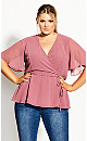 Plus Size Enthral Me Top - rose