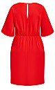 Knot Front Dress - red