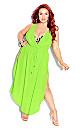 Plus Size Sunlover Maxi Dress - lime
