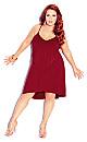 Angel Tier Dress - red