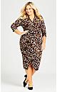 Plus Size Kim Print Dress - black