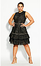 Plus Size Loving Lace Dress - black