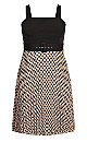 Plus Size Spot Gloria Dress - doe
