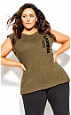 Plus Size Femmina Tee - khaki