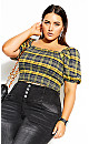 Plus Size Clueless Top - yellow