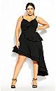 Plus Size Supreme Ruffle Dress - black
