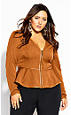 Plus Size Sweet Plunge Jacket - copper