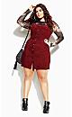 Sweet Corduroy Dress - beetroot