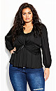 Twisted Love Top - black