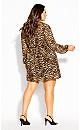 Plus Size Cute Animal Dress - ochre