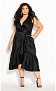 Plus Size Ruffle Vibes Dress - black