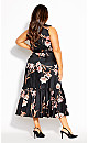 Plus Size Floating Lily Dress - black